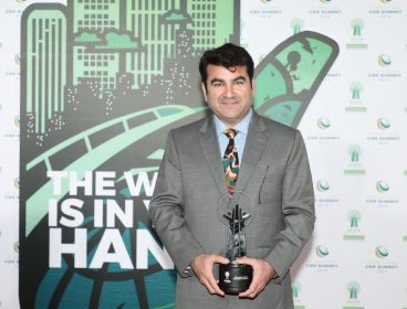 Engro accepting the AREA Award