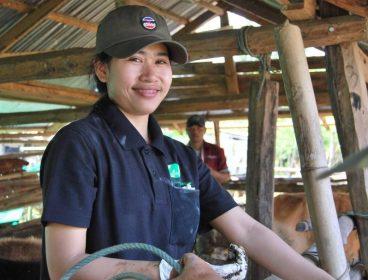 Laos student at work