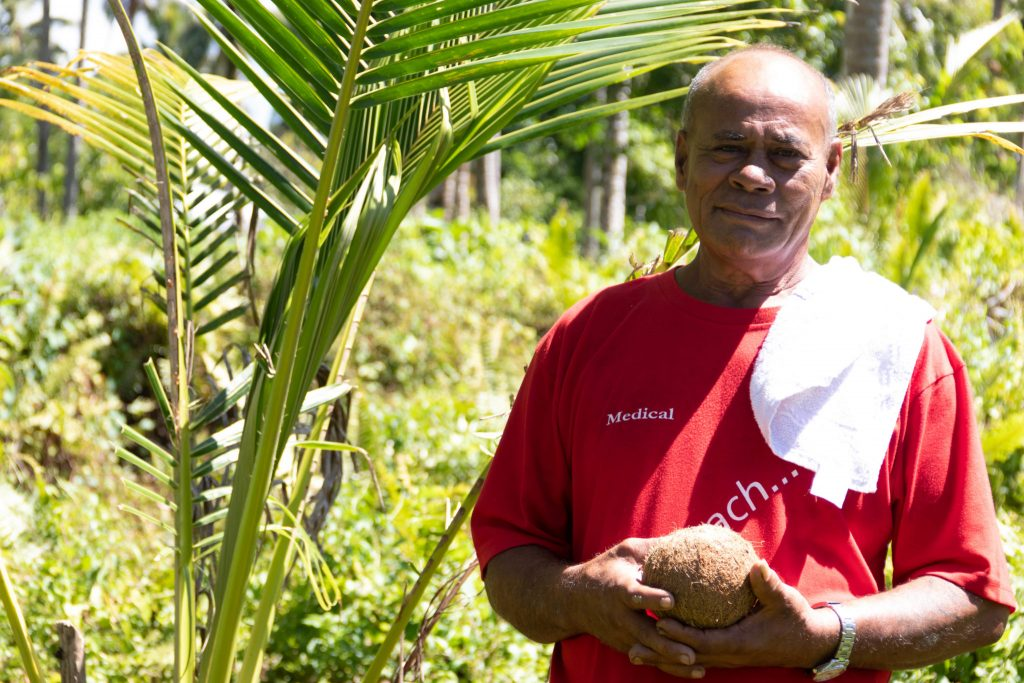 Coconut Farmer in Samoa