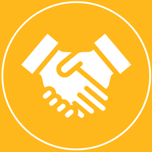 Our Reach handshake logo